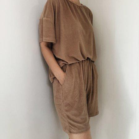 Eadaie Women's Terry Towel Shorts - brown