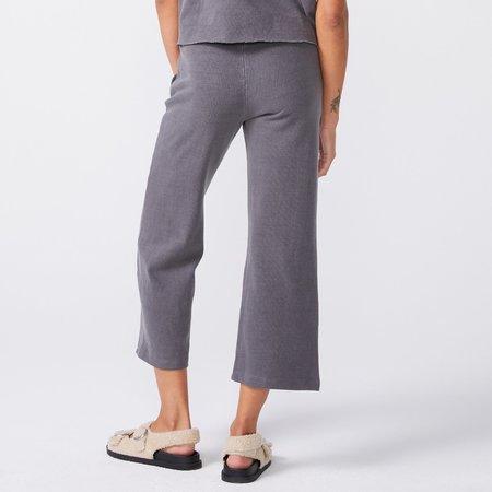Monrow Wide Leg Lounge Pant - Vintage Black