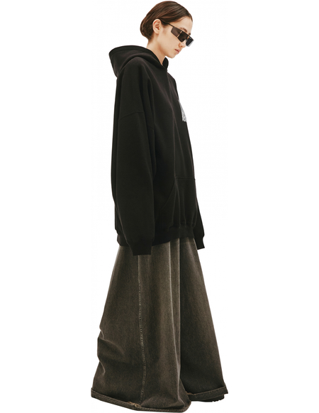 Balenciaga Black Printed Hoodie