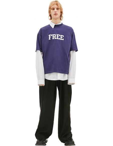 Balenciaga T-shirt with Embroidered Lettering FREE