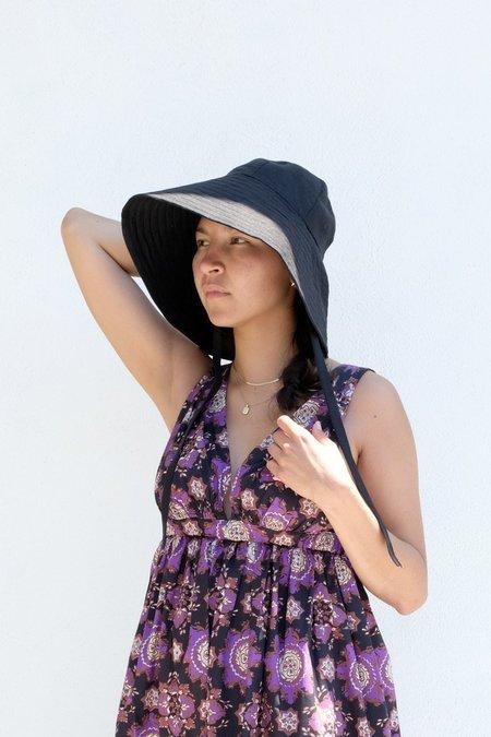 Small Lot Linen Hat - Black
