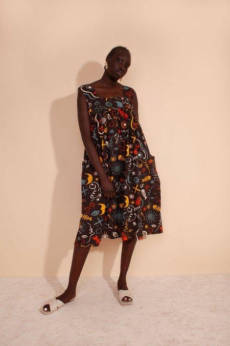 L.F.Markey Cameron Dress - Clay Print