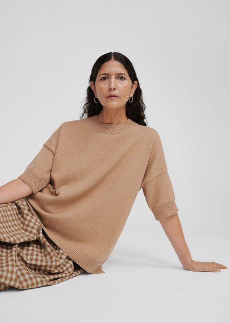 Monica Cordera Cotton Sweater - Camel