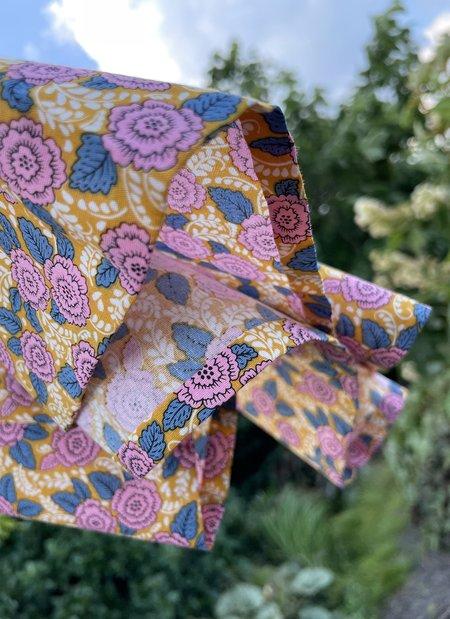 Unisex KAAREM Butterfly Pea 3/4 Sleeve Short Collar Shirt - Pink Garden