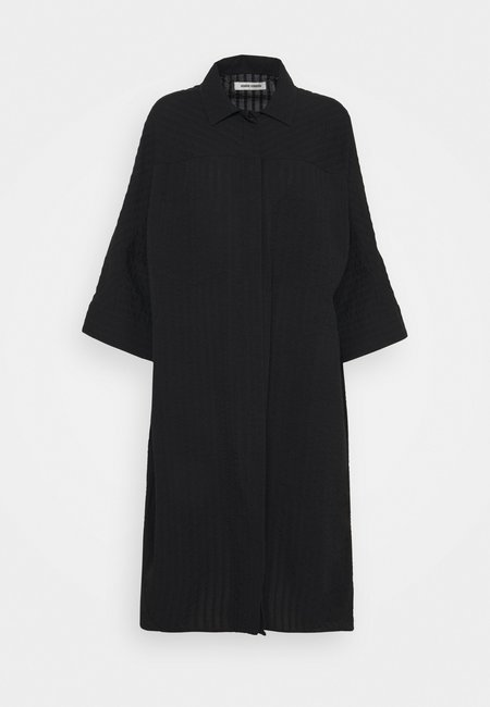 Funnel Shirtdress in Black by Henrik Vibskov