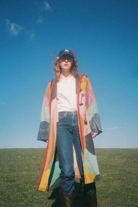 VINTAGE 1970'S Hooded Suede Coat - Patchwork