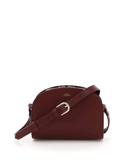 A.P.C. Mini Demi Lune Leather Bag - purple