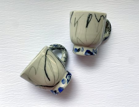 DA Ceramics SET OF 2 Scribble Espresso Cups