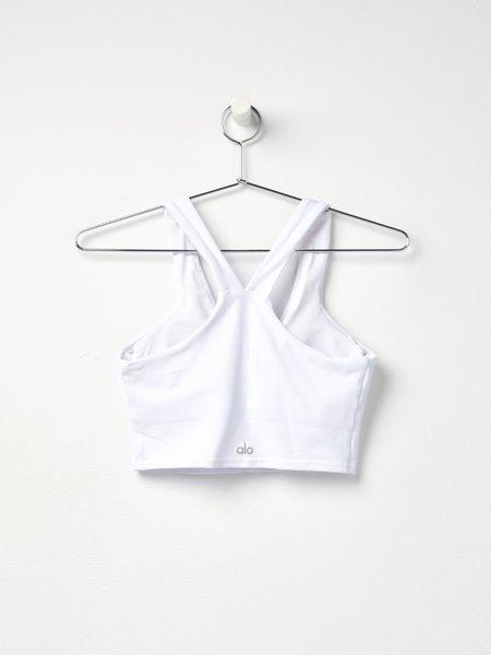 Alo Yoga REAL BRA TANK - WHITE