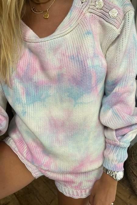 LoveShackFancy Gallatin Pullover - Cotton Candy Hand Dye