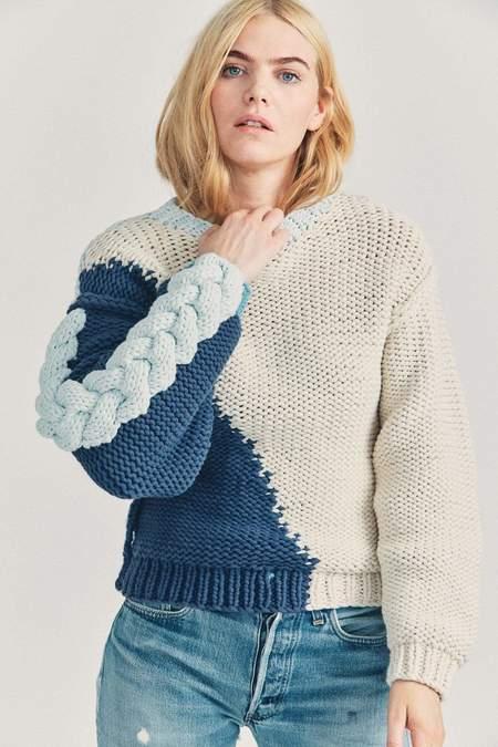 LoveShackFancy Isaiah Pullover Sweater - Azul Ocean Multi