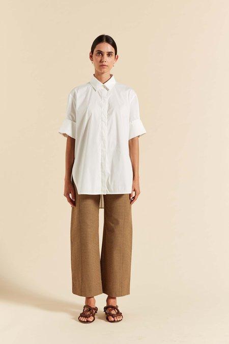 Lee Mathews Frances Cuffed SS Shirt - Natural