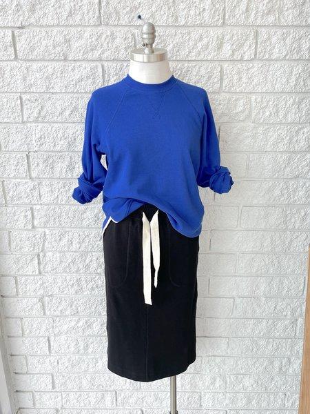 Lee Mathews Vince Organic Fleece Raglan Sweater - Cobalt