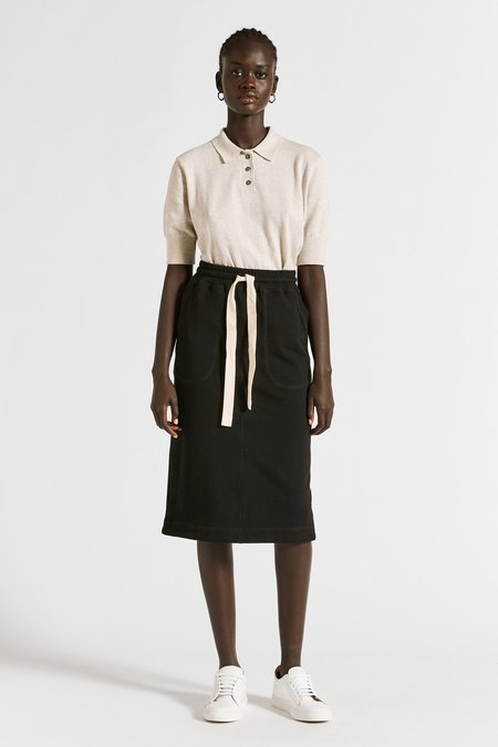 Lee Mathews Vince Organic Fleece Skirt - black