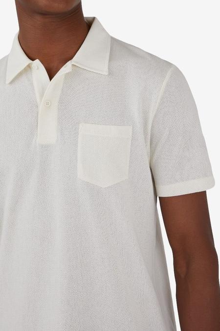 Sunspel Short Sleeve Riviera Polo - Archive White