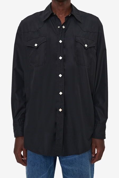 Our Legacy Ranch Shirt - Black Dull Luster