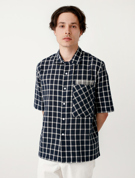 DDugoff Peter Camp Shirt Navy