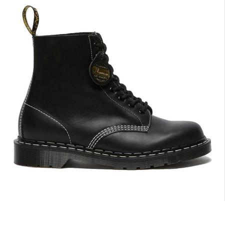 Dr. Martens 1460 Pascal Cavalier Leather Lace Up Boots - Black Cavalier