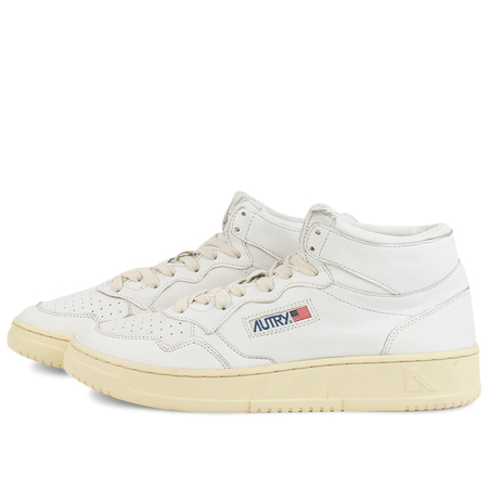 Autry Action autry 01 mid man Goat sneakers - White