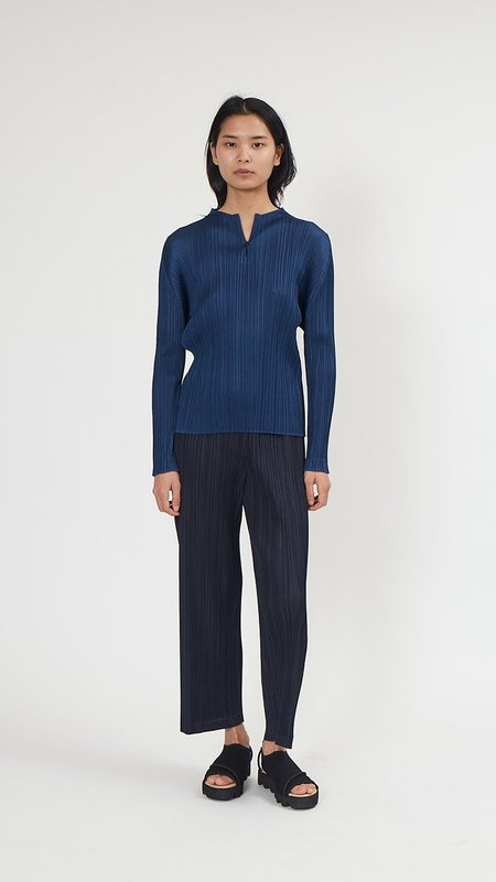 Issey Miyake Pleats Please Monthly Colors Top - Navy Blue