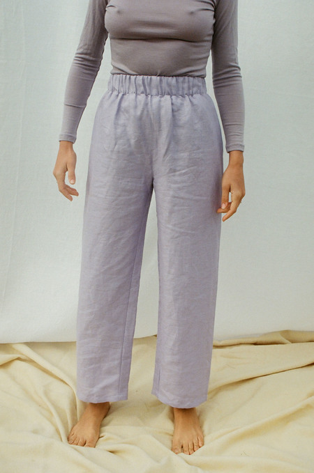 Mimi Holvast Scrunchie Pants - Lilac