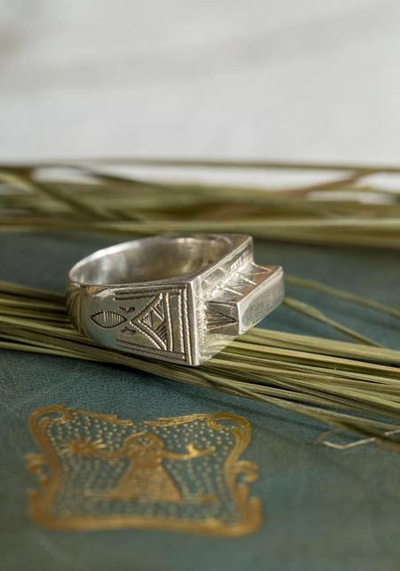 Ombre Claire Abe Ring - Sterling Silver