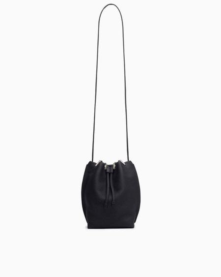 Rag & Bone Dayton Drawstring Leather Medium Bucket Bag - black