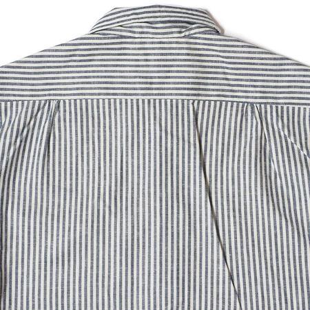 Warehouse & Co. S/S Open Collar Thin Stripe Shirt - Navy