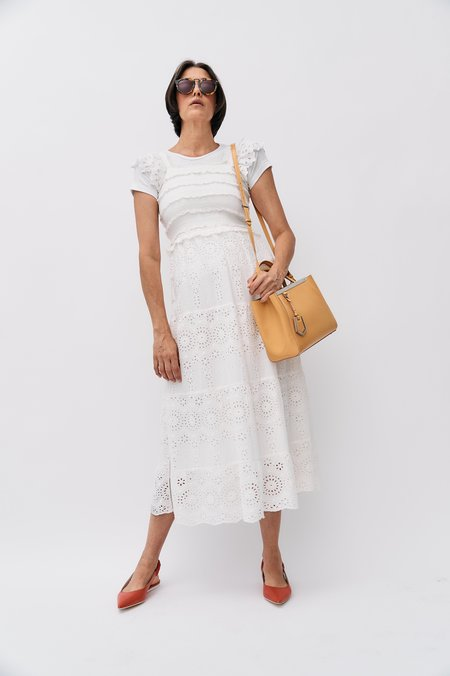 pre-loved Sea Eyelet Lace Dress - ivory