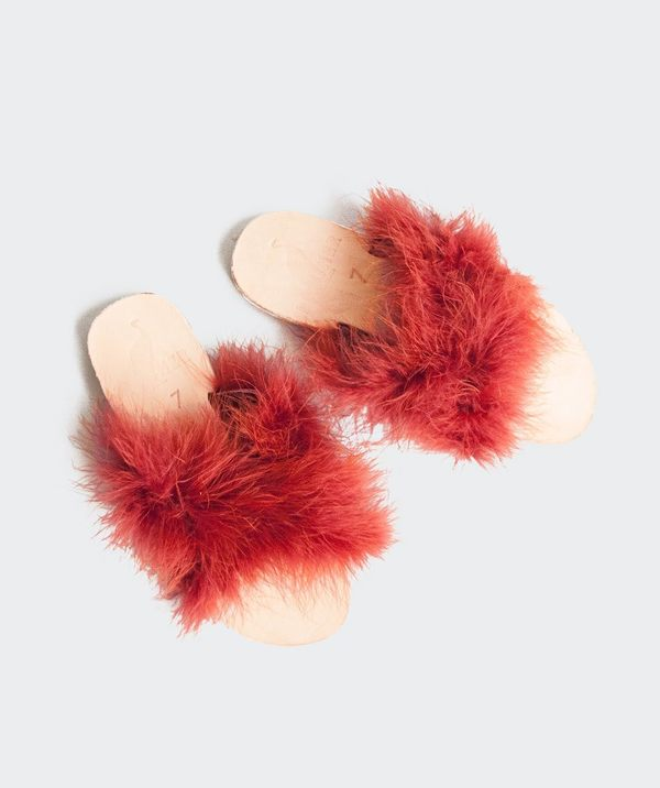Brother Vellies Marabou Lamu Sandal - Currant