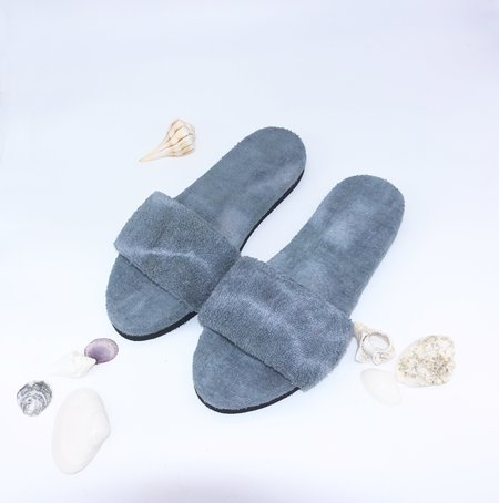 COLORANT X LARRY SHOES TERRY SANDALS - CHARCOAL