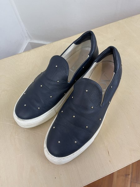 pre-loved AGL Studded Tennies sneakers - navy/gold