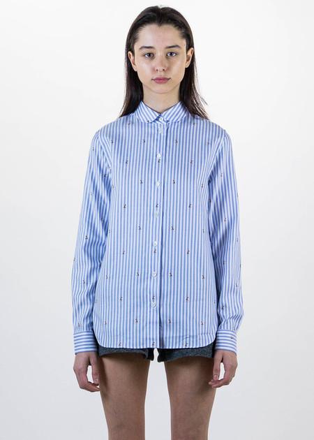 Maison Kitsune Jacquard Fox Baby Collar Shirt