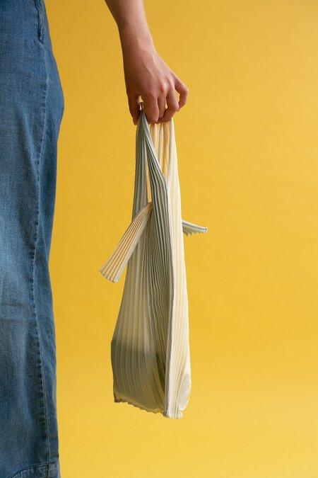 WOLF & GYPSY VINTAGE Small Pleco Pleated Bag - Silver/Beige