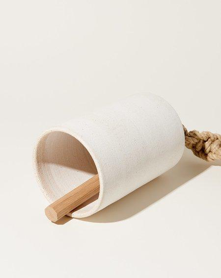 MQuan  Large Thrown Bell Twist - White