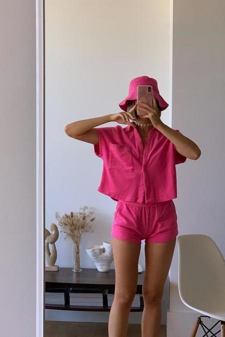 Araminta James Terry Shirt Set - Pop Pink