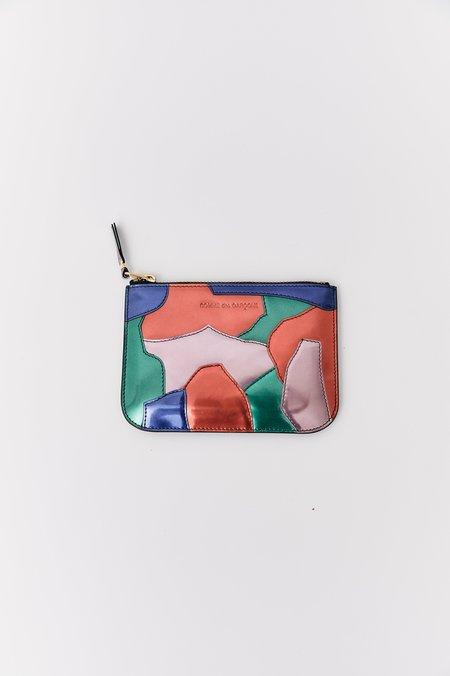 Comme des Garcons Patchwork Leather Pouch Wallet - Multi-Color
