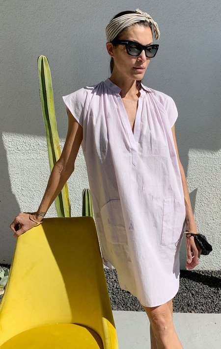 Two Khadi Tunic dress -  lavender