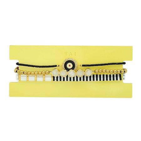 tai set of 3 Evil Eye Bead Bracelet - Black