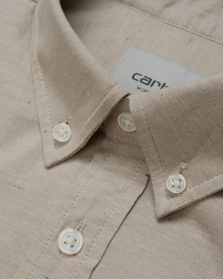 CARHARTT WIP LS Kyoto Stone Washed Shirt - Wall