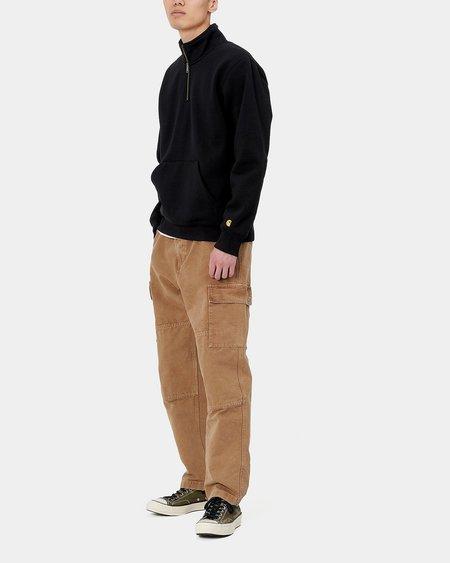 CARHARTT WIP Chase Neck Zip Sweatshirt - Black/Gold