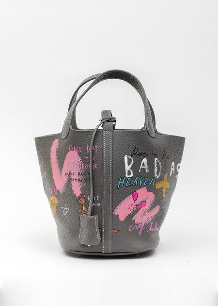 Guernika Paint Cube Bag - Grey/Pink