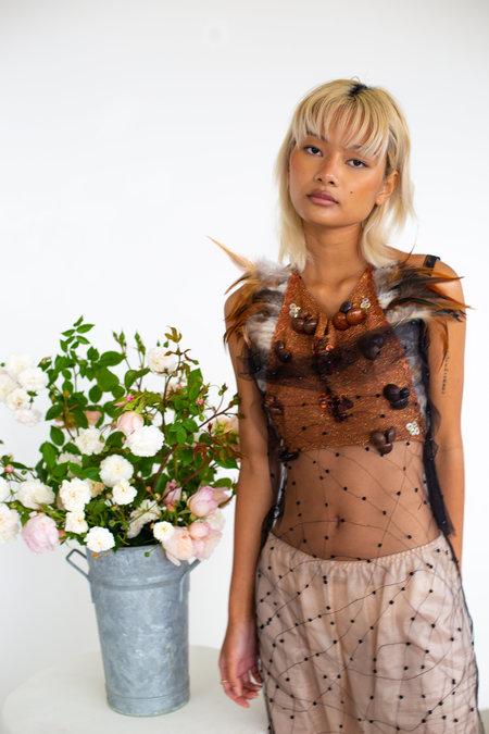 Sydney Pimbley Vintage Silk Slip Skirt - BLACK