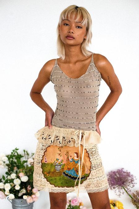 Sydney Pimbley Duchess' Mural Skirt - natural