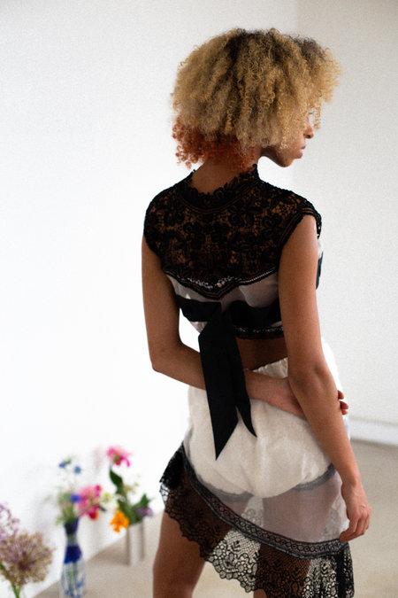 Sydney Pimbley Lady Godiva Shorts - white/black