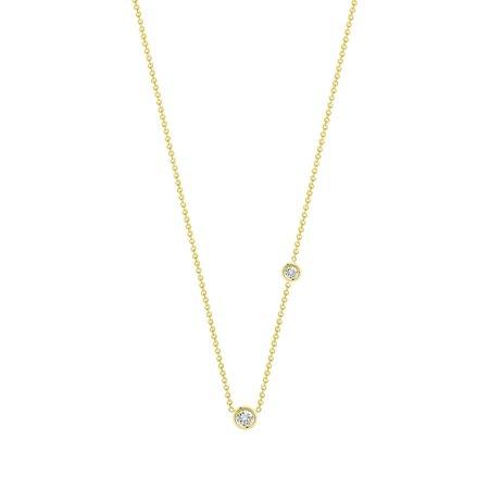Hortense Double Flirty necklace - White Diamonds