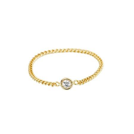 Hortense Flirty On A Chain Ring - 14KT gold