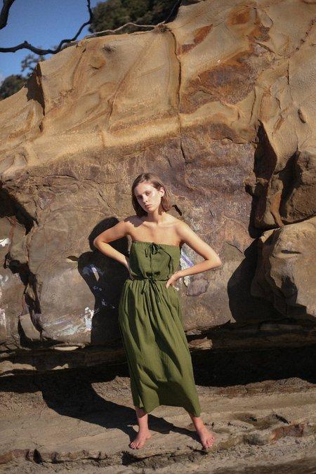 Mina Bliss Dress - Caper Green