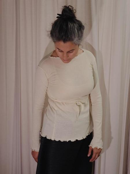 Baserange Kosa Wrap Long Sleeve - Off White