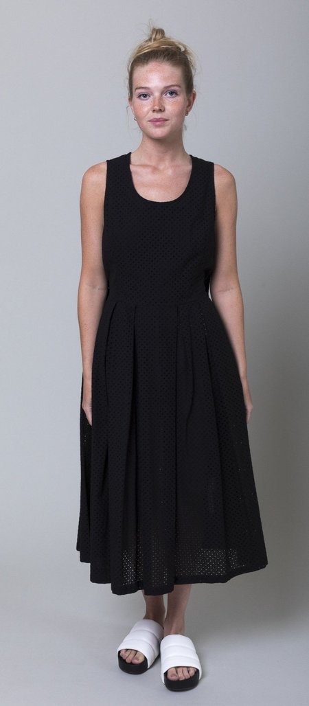 Le Vestiaire de Jeanne Eyelet Dress - Noir